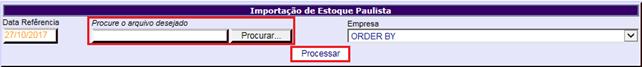 Figura 4 - Importação de Estoque Paulista