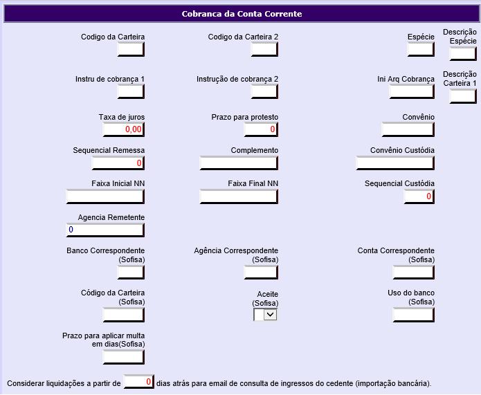 Figura 4 - Dados de Cobrança
