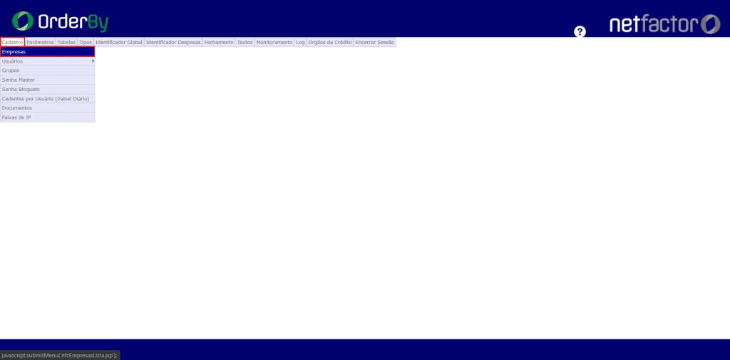 Figura 1 - Acesso para a configuração do Monitoramento Nfe