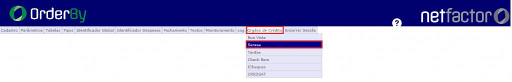 Figura 1 - Acesso as configurações no Config