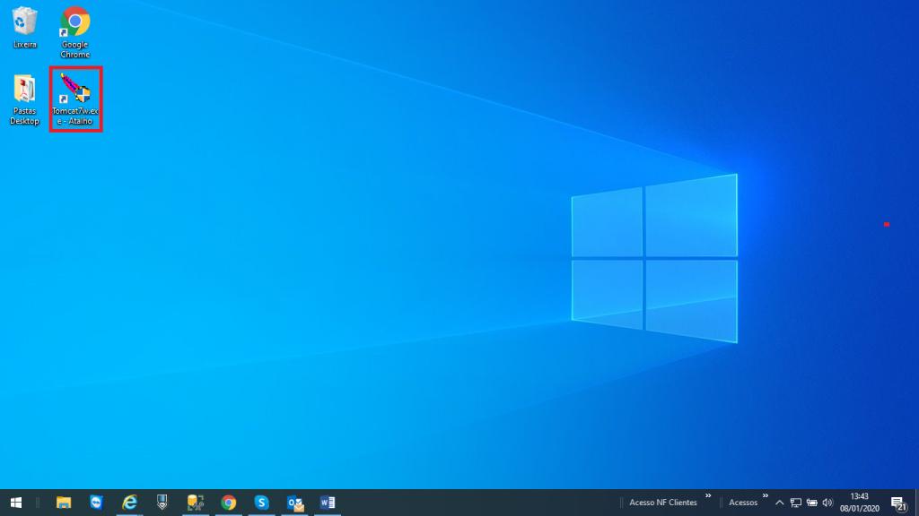 Figura 1 - Acesso ao Tomcat pelo Desktop