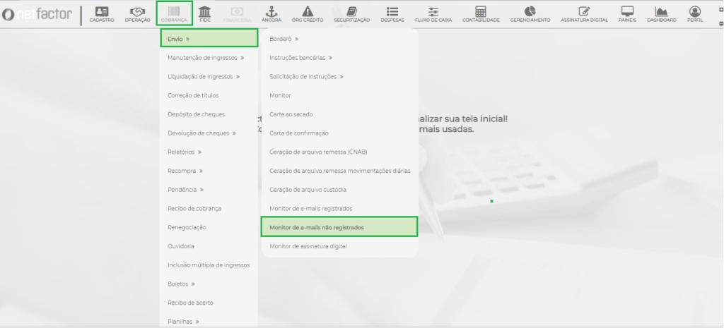 Figura 1 – Caminho Monitor de Emails não Registrados